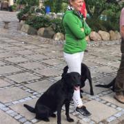 Fiona og Jan til hundetræning